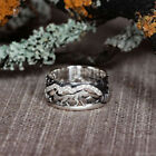 Fashion Wolf 925 Silver Couple Rings Jewelry White Sapphire Ring Size 5-13