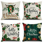 Christmas throw pillow covers, Green plant printing sofa cushion cover 16/18/20""