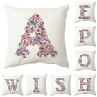 Uk Purple Letter Butterfly Cushion Cover Pillow Case Waist Throw Home Sofa Decor