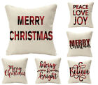 Christmas Home Decoration Throw Pillow Cover, Linen Sofa Cushion 18x18/20x20inch