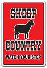 SHEEP COUNTRY Decal farm animals watch your step redneck parking