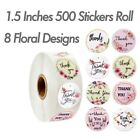 "1.5"" 500 Thank You Stickers Roll Thank You For Supporting Small Business Labels"