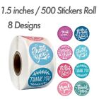"""1.5"""" 500 Thank You Stickers Roll Thank You For Supporting Small Business Labels"""