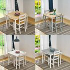 5 Colours Solid Wood Dining Table and 2 Chairs Set Kitchen Room Home Furniture