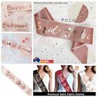 Team Bride To Be Sash Hens Do Party Rose Gold Wedding Sashes Bridal Shower Aus