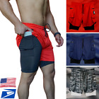 Men's Gym Sports Training Bodybuilding Workout Running Fitness Gym Shorts