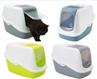 Cat Litter Tray Box Portable Kitten Hooded Potty Toilet Loo with Carbon Filter