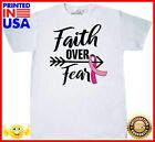 Inktastic Breast Cancer Awareness Faith Over Fear With Pink Ribbon And Tshirt