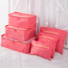6x Travel Storage Bag Set for Clothes Luggage Packing Cube Organizer Compression