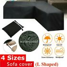 Waterproof Rattan Corner Furniture Cover Garden Outdoor Sofa Protect L Shape Au