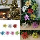 Glitter Flower Shape Christmas Tree Ornaments Hanging Decor Home Pendant G0d6