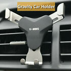 Universal Gravity Aluminum Car Air Vent Mobile Phone GPS Holder Mount Stand
