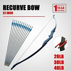 Archery Takedown Recurve Bow 57in. 20 30 40lbs with 12pcs Arrows Right Left Hand