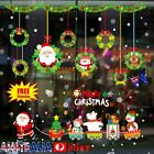 Christmas Wall Stickers Adhesive Window Decals Santa Xmas Festival Home Decor At