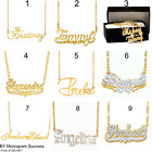 Personalized Sterling Silver 14KGold Any Name Plate Script Chain Necklace USA