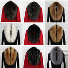 Womens Winter Thicken Faux Fur Collar For Overcoat Jacket Hood Hat Scarf Shawl