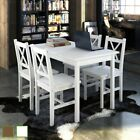 5 Piece Dining Table Set + 4 Chairs Wooden Kitchen Room Breakfast Furniture Seat