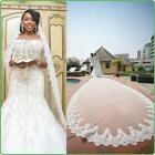 20New Cathedral White/ivory Lace Edge Bridal Wedding 1T 9M Bridal Veil with comb