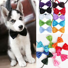 1/2pcs Pet Puppy Fashion Bow Ties Necktie Dog Cat Cute Adjustable Collars Solids