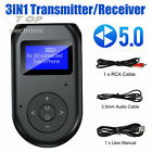 3 in 1 Bluetooth 5.0 Transmitter Receiver Wireless Audio 3.5mm Adapter for TV PC