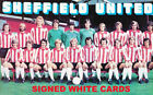 SHEFFIELD UNITED FC AUTOGRAPHS SIGNED WHITE CARDS FROM 1970'S -90'S