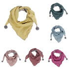 Baby Cotton Triangle Scarves Pure Color Autumn Winter Kids Neck Warm Bibs Scarf