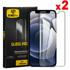 2x For Iphone 13 12 Mini 11 Pro Xr Xs Max 8 Plus Tempered Glass Screen Protector