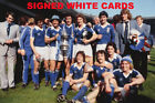 IPSWICH TOWN FC AUTOGRAPHS FROM LATE 1970-90's SIGNED WHITE CARDS