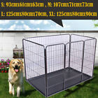 Dog Cage Puppy Pet Crate Carrier - Small Medium Large S M L XL XXL Metal Black