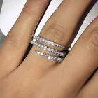 925 Silver Rings for Women Gorgeous White Sapphire Jewelry Gift Size 6-10