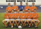 BLACKPOOL FC AUTOGRAPHS FROM LATE 1970's-90's SIGNED WHITE CARDS