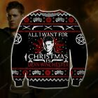 Dean Winchester KNITTING PATTERN 3D PRINT UGLY CHRISTMAS SWEATER Size S-5XL