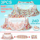 3pcs/set Portable Foldable Home Baby Infant Mosquito Tent Travel Bed w/ Pillow