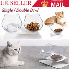 Food Bowl With Stand Clear Elevated Cat Dog Water Bowl Detachable Pet Feeding UK