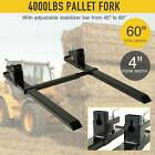 "1500lbs 2000lbs 4000lbs 43"" 60"" Clamp on Pallet Forks Heavy Duty Loader Bucket"