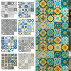 72pc Moroccan Style Tile Wall Stickers Kitchen Bathroom Self-adhesive Home Decor