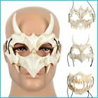 Japanese Anime Dragon God Skeleton Half Face Mask Halloween Cosplay Costume Prop