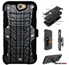 For HTC Bolt,One A9,Desire Series Hybrid Belt Clip Holster Case Rubber Tire