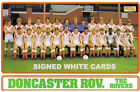 DONCASTER ROVERS FC AUTOGRAPHS FROM LATE 1970-90's SIGNED WHITE CARDS