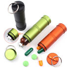 Aluminum Alloy Waterproof Case First-Aid Medicine Bottle with Key Ring