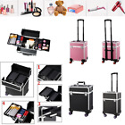 Aluminum Rolling Makeup Cosmetic Cases Hairstylist Equipment Trolley Organizer