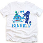 SHARK My 1ST Birthday Shirt 1 Year Old Birthday T-Shirts
