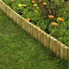 1M Log Roll Border Fixed Picket Fence Edge Garden Outdoor Lawn Edging brand new