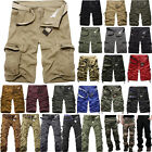 Mens Cargo Shorts Casual Summer Military Army Tactical Combat Camo Work Trousers