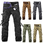 Mens Army Military Cargo Combat Trousers Camo Camouflage Hiking Work Long Pants