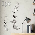 Library Classroom Bedroom Wall Sticker Pvc Open Book Home Decoration  3d
