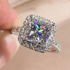 Gorgeous Women 925 Silver Rings Cubic Zirconia Engagement Jewelry Gift Sz 6-10