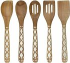 5pcs Acacia Wooden Kitchen Tools Utensil Set For Food Preparation And Serving