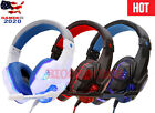 LED Mic Gaming Headset Stereo Surround Headphones For PS4 Xbox One Switch PC USA