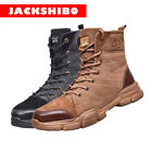 Mens High Top Safety Shoes Indestructible Steel Toe Work Boots Hiking Sneakers